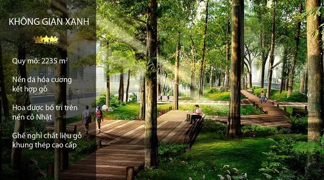 Không gian xanh tại Eco City