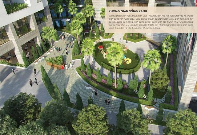 không gian xanh Rivera park