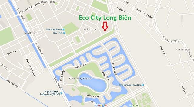 Vị trí Eco City Việt Hưng