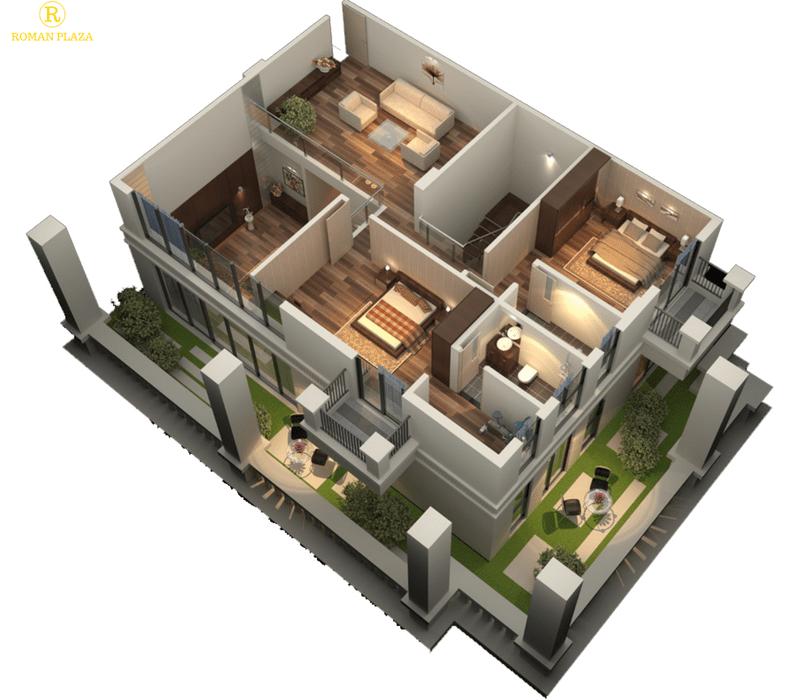 Căn hộ duplex tầng 2