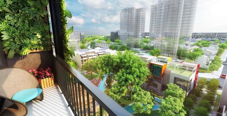 View Quảng trường chung cư 6th Element