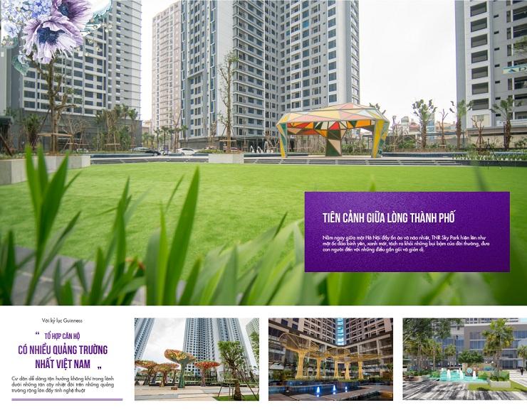 Cảnh quan thực tế chung cư TNR Sky Park Gold mark city