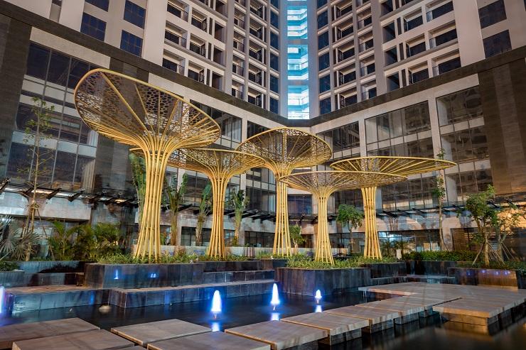 Hình ảnh thực tế quảng trường TNR Sky Park Gold mark city