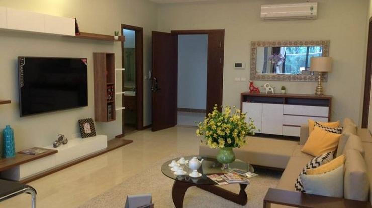 Thiết kế thực tế căn hộ 2 phòng ngủ chung cư TNR Sky Park Gold mark city
