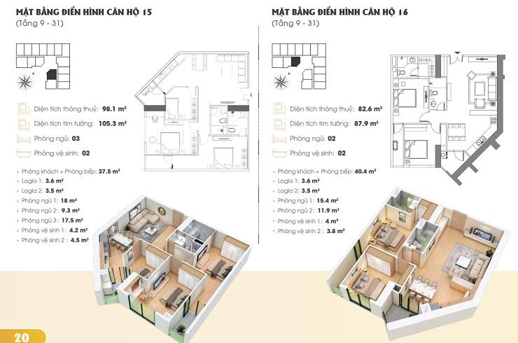 Thiết kế căn hộ chung cư Golden Park tower 4