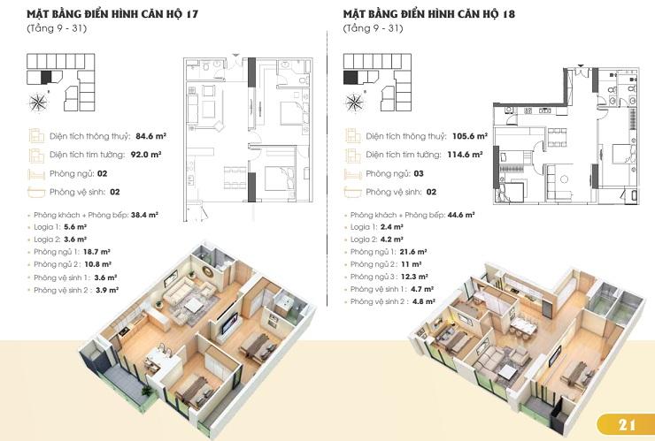 Thiết kế căn hộ chung cư Golden Park tower 5