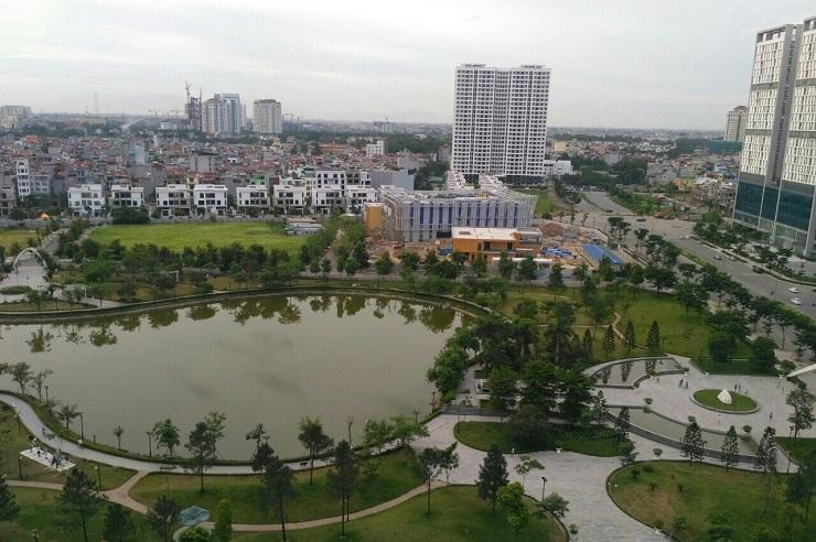 View hồ điều hòa từ chung cư N01T8 Ngoại giao đoàn