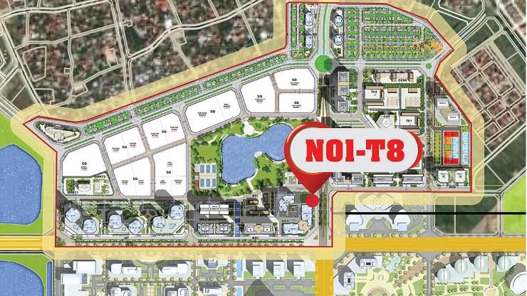 Vị trí chung cư N01T8 Ngoại giao đoàn