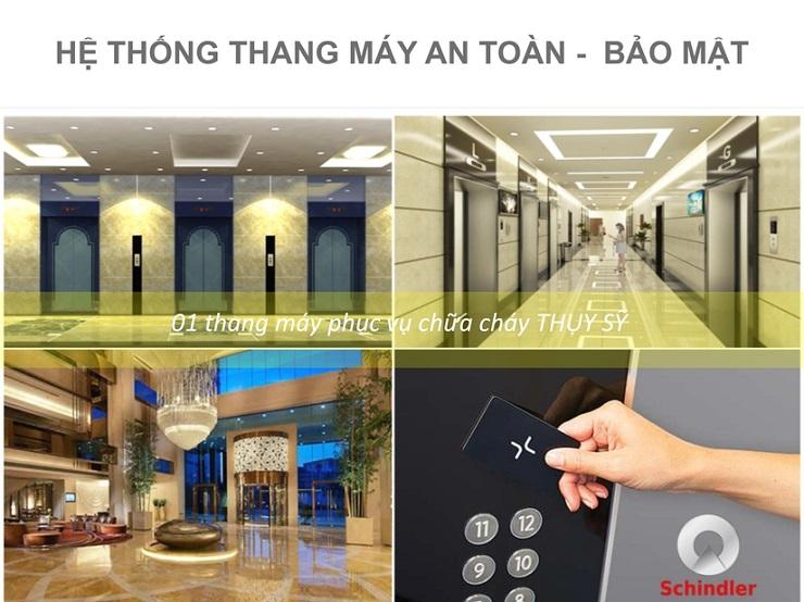 Thang máy bảo mật tại chung cư Thống Nhất complex Nguyễn Tuân