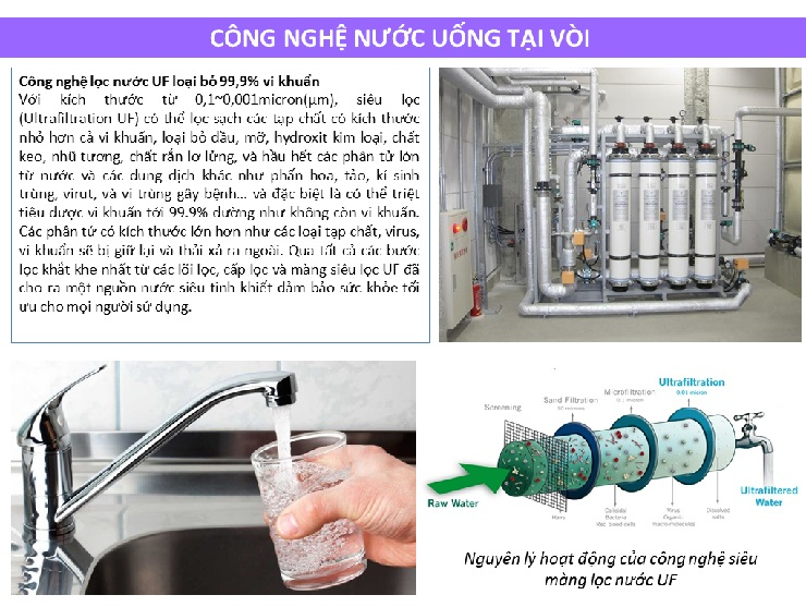 Hệ thống nước uống tại vòi