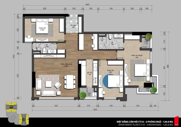 Thiết kế căn hộ 131m2