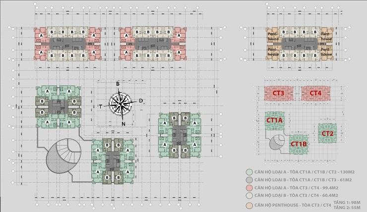 Mặt bằng thiết kế dự án chung cư Iris Garden
