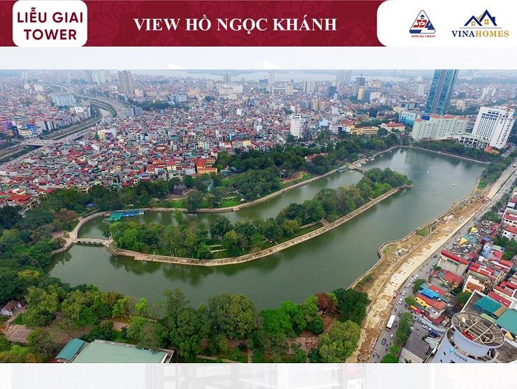 View hồ Ngọc Khánh theo hướng Nam