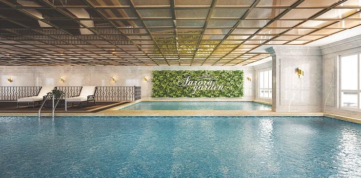 Bể bơi bốn mùa tại khu chung cư