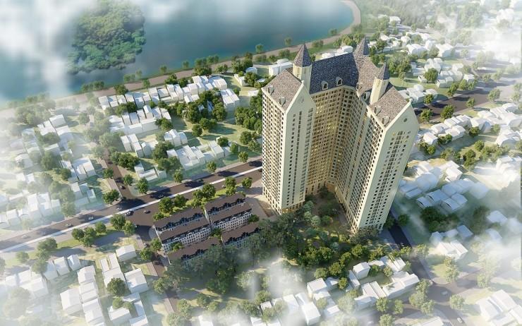 Đường nét kiến trúc Châu Âu trong thiết kế chung cư Aurora Garden Tam trinh