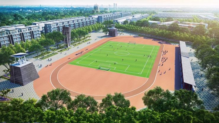 Sân thể thao tại Vườn Sen đồng kỵ - Lotus garden Bắc Ninh